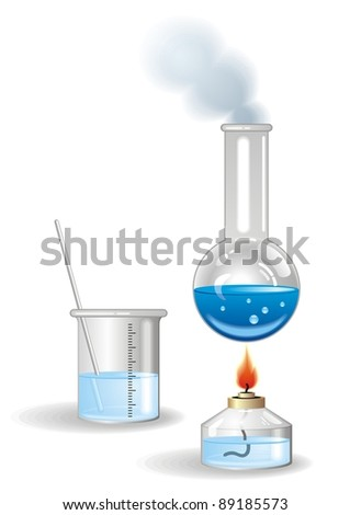 Chemical Bottles vector - stock vector