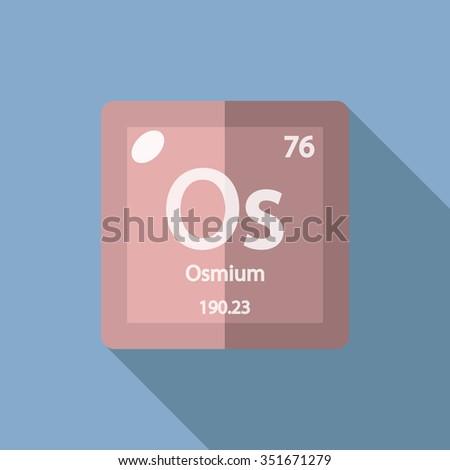Chemical Element Osmium Flat Design Style Stock Vector 351671279