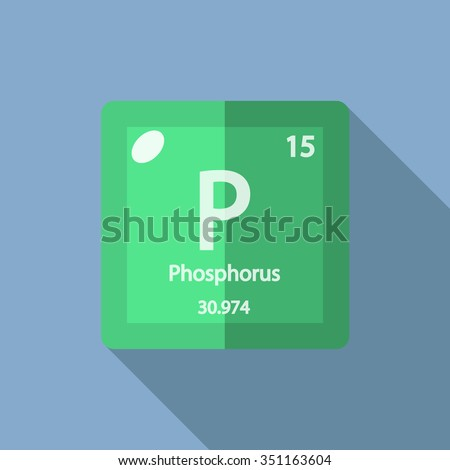 chemical element Phosphorus. Flat design style modern vector illustration. - stock vector