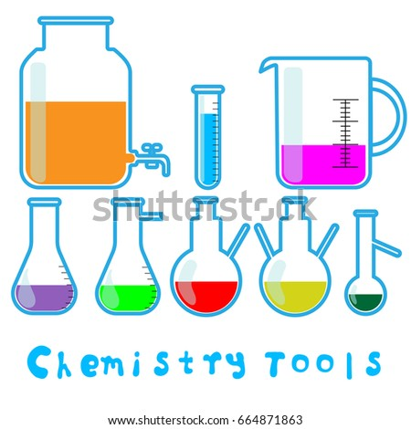 Chemical Laboratory Equipment Isolated On White