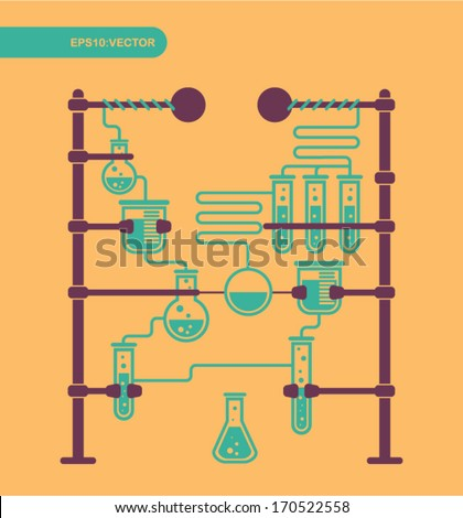 chemical laboratory vector - stock vector