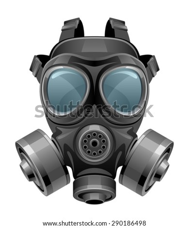 Chemical mask - stock vector