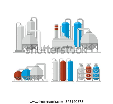 Chemical plant vector icon - stock vector