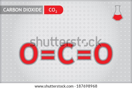Chemical presentation template for education - carbon dioxide - stock vector