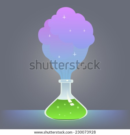 chemical reaction - stock vector