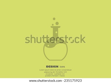 chemical reaction in a flask web icon. vector design