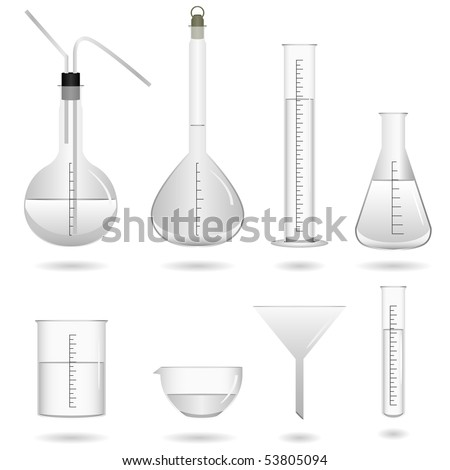 Chemical Science Equipment Vector - stock vector