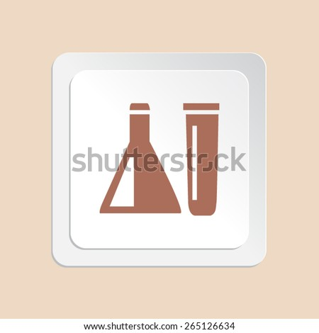 Chemical tubes vector icon  - stock vector