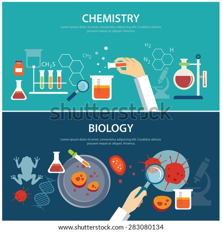 chemistry and biology education concept - stock vector