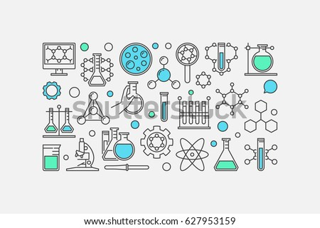 Chemistry concept banner vector illustration made stock photo photo chemistry concept banner vector illustration made with laboratory glass test tube and other ccuart Gallery
