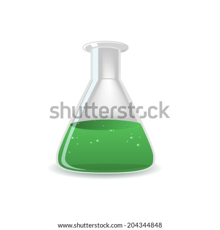 chemistry flask  - stock vector