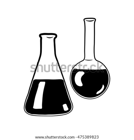 chemistry icon. Laboratory equipment symbol. Vector illustration. Isolated On White Background