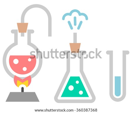 Chemistry icon. Test-tubes with liquid