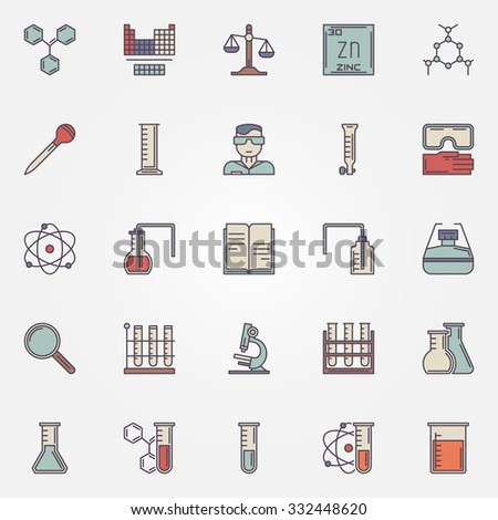 Chemistry icons vector flat trendy science stock vector 332448620 chemistry icons vector flat trendy science symbols or signs ccuart Gallery