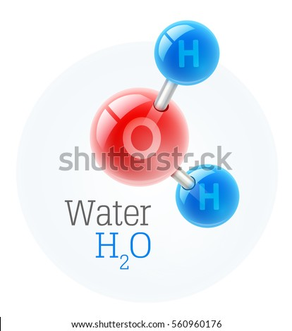 Chemistry Model Molecule Water Scientific Elements Stock Vector
