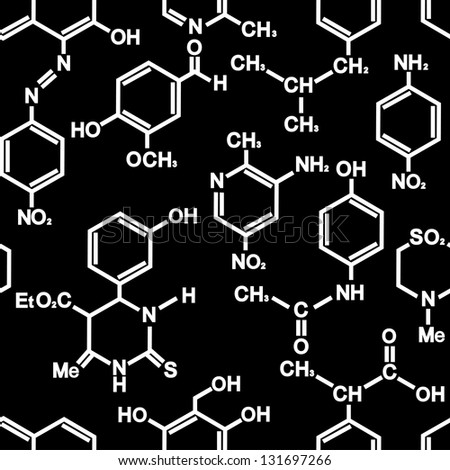 Chemistry Seamless Background For Wallpaper Or Science Design Vector Illustration
