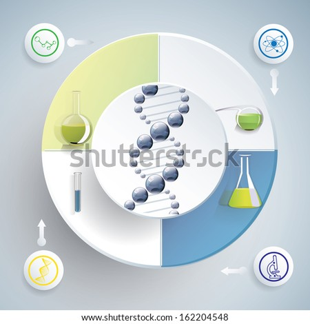 Chemistry since infographic vector illustration - stock vector