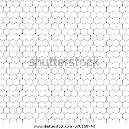 Chemistry vector seamless pattern, hexagonal design vector illustration. - stock vector