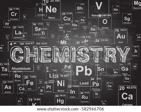 Chemistry word on periodic table symbols stock vector 582966706 chemistry word on periodic table symbols blackboard background urtaz Image collections