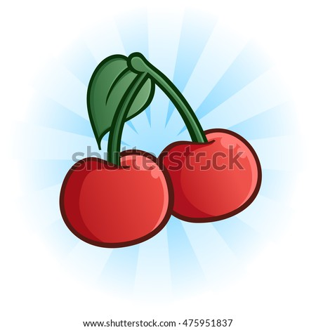 Cherries Cartoon Illustration