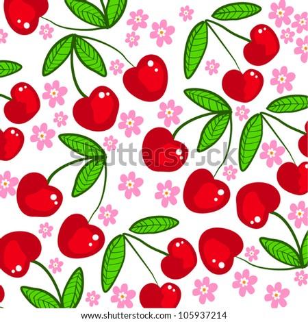 cherry - stock vector