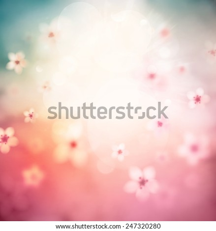 Cherry blossom, abstract background, eps 10 - stock vector