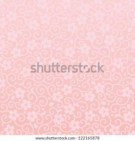 cherry blossom background - stock vector
