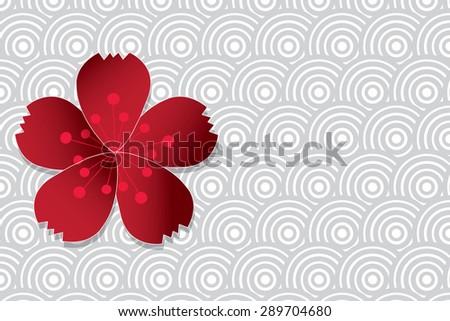 Cherry blossom. Sakura flower vector illustration. - stock vector