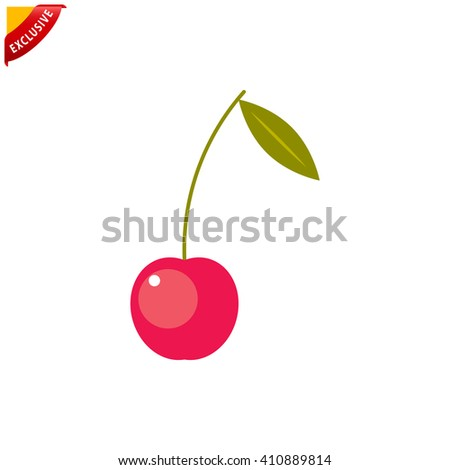 cherry icon, vector cherry icon, isolated cherry sign