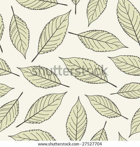 cherry leaves in one pattern