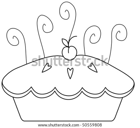 Cherry Pie - stock vector
