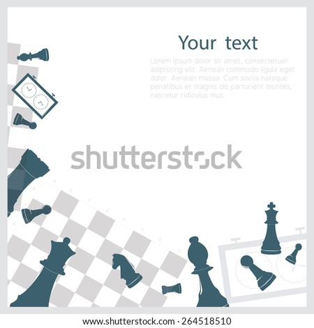 Chess background - stock vector