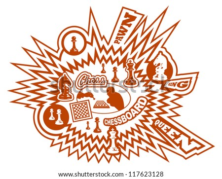 Chess background. Vector - stock vector