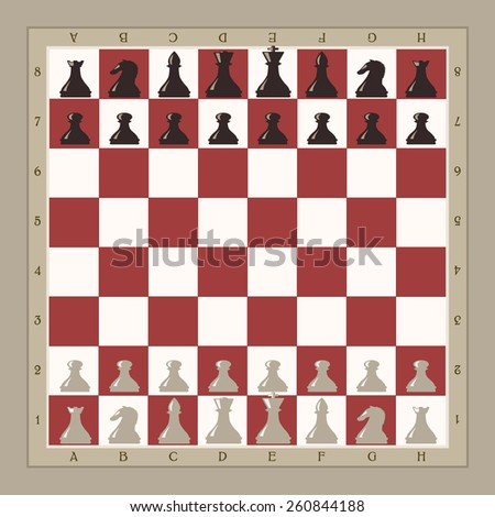 chess board illustration - stock vector