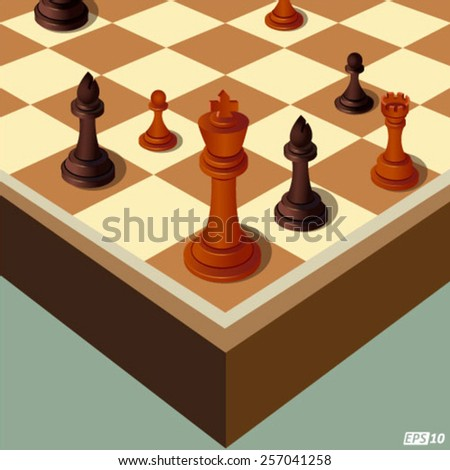 Chess Coins or Decision Making - stock vector