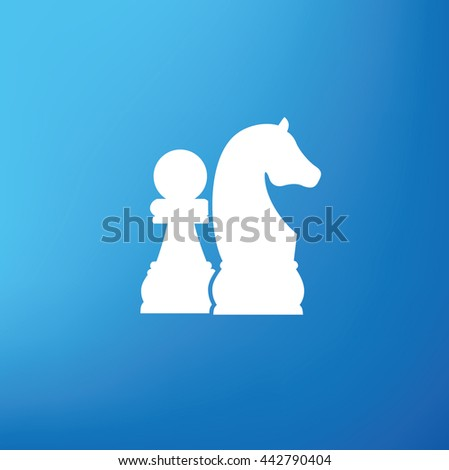 Chess design on blue background,vector - stock vector