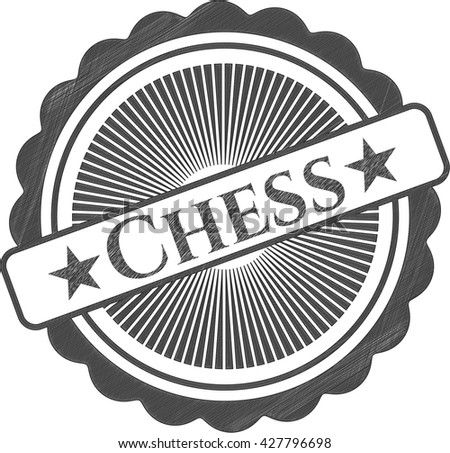 Chess drawn with pencil strokes - stock vector