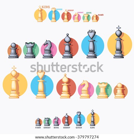 chess figures - stock vector
