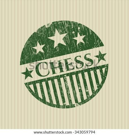 Chess grunge stamp - stock vector