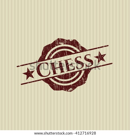 Chess grunge style stamp - stock vector