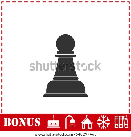 Chess icon flat. Simple vector symbol and bonus icon