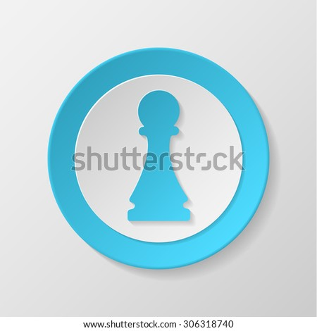 Chess icon. Pawn concave icon. - stock vector