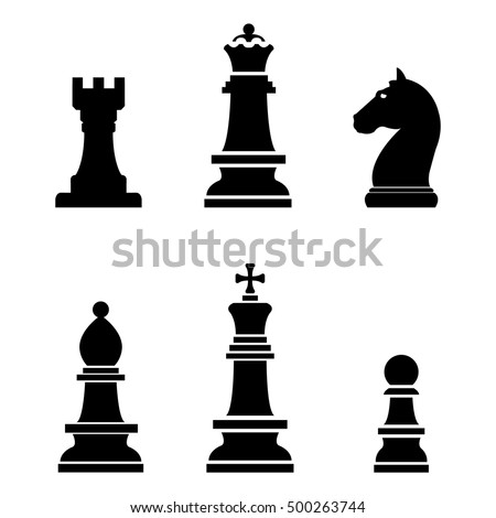 Chess icons set.