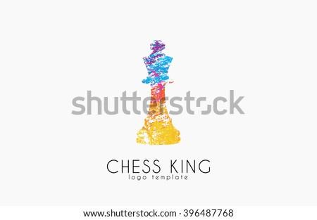 Chess king logo. Chess logo. King logo. Creative logo. - stock vector