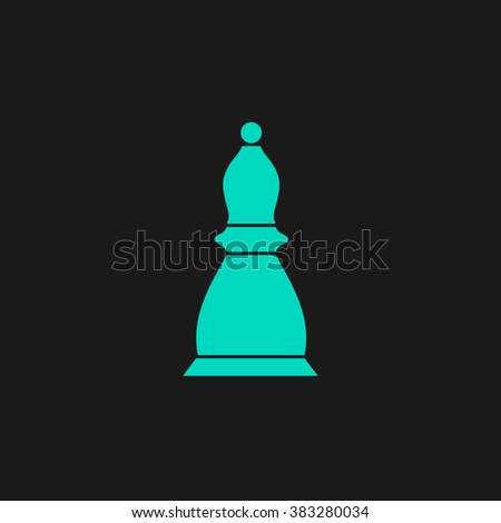 Chess officer. Flat simple modern illustration pictogram. Collection concept symbol for infographic project and logo - stock vector