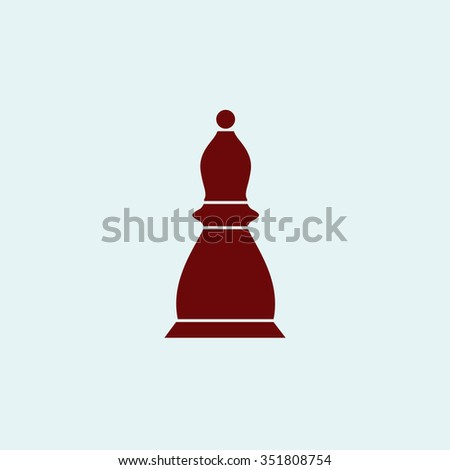 Chess officer. Red vector icon. Simple modern illustration pictogram. Collection concept symbol for infographic project and logo - stock vector