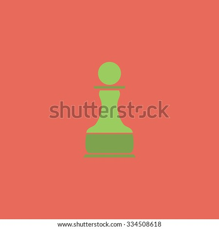 Chess Pawn. Colorful vector icon. Simple retro color modern illustration pictogram. Collection concept symbol for infographic project and logo - stock vector