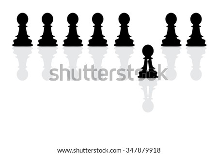 Chess pawn figures as business strategy concept. Vector illustration - stock vector
