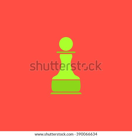Chess Pawn. Flat simple modern illustration pictogram. Collection concept icon for infographic project and logo - stock vector