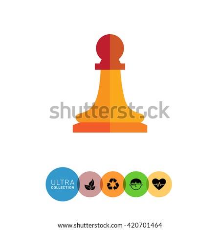 Chess pawn icon - stock vector